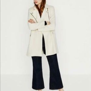 ❣️LastChance❣️ZARA WOMAN WHITE COAT JACKET